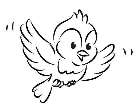 小鸟简笔画,高清小鸟简笔画图片大全,都是高清的,全部