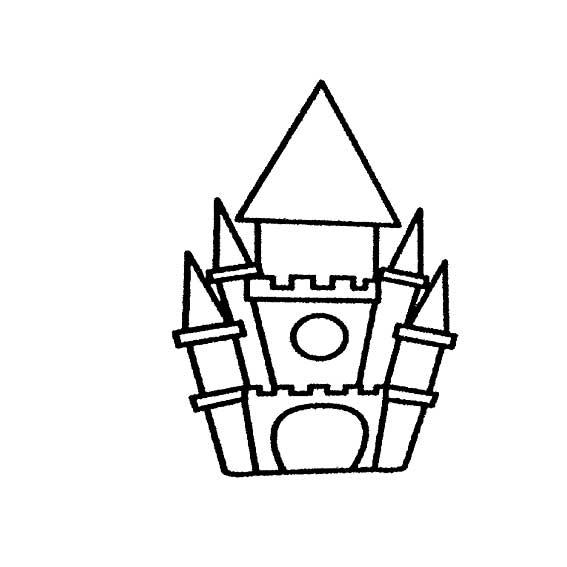 城堡简笔画,高清晰的卡通城堡简笔画图片大全免费下载,让宝宝爱上绘画哦