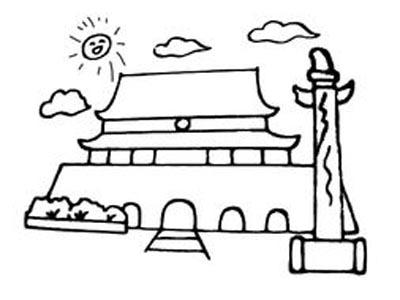 天安门怎么画_天安门的简笔画