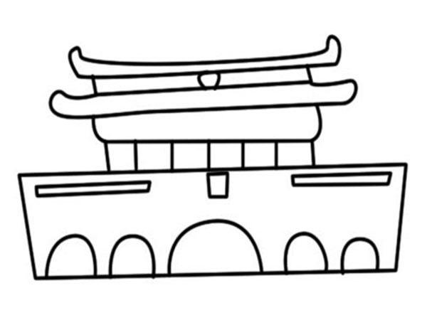 天安门简笔画,高清天安门简笔画图片大全免费下载