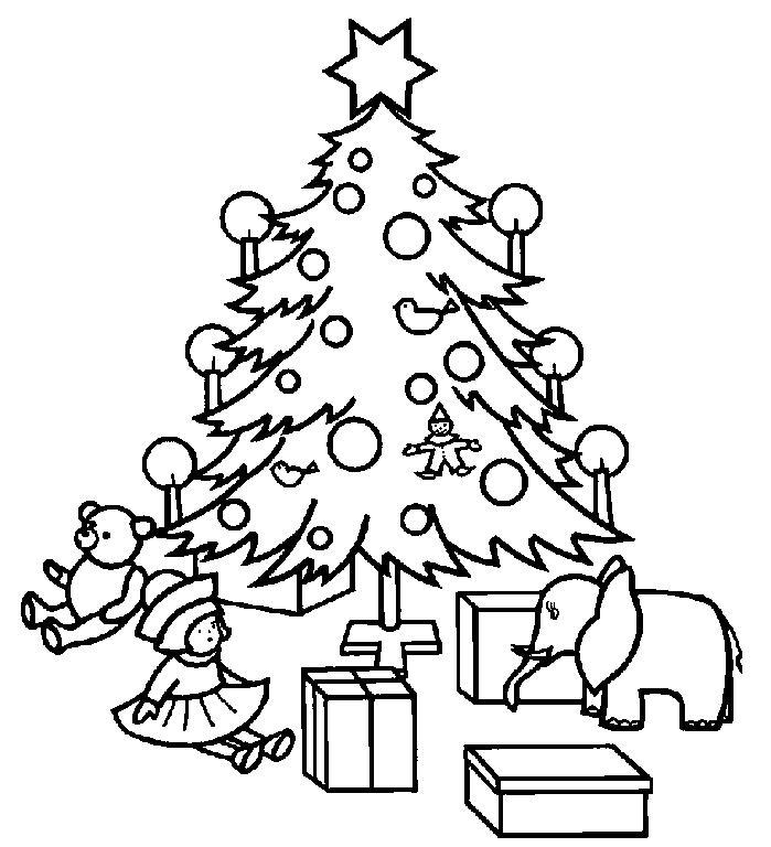 少儿美术简笔画【圣诞树】