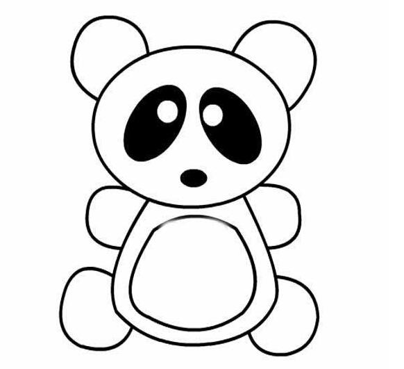 大熊猫简笔画,高清大熊猫简笔画大全