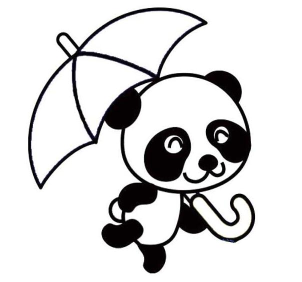 大熊猫简笔画,高清大熊猫简笔画大全,教宝宝画大熊猫吧!