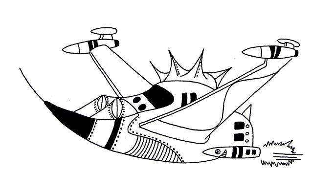 宇宙飞船简笔画,高清宇宙飞船简笔画大全