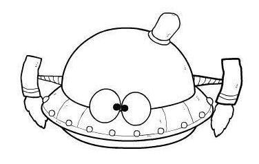 宇宙飞船简笔画,高清宇宙载人飞船简笔画大全,让宝宝憧憬浩渺的宇宙!