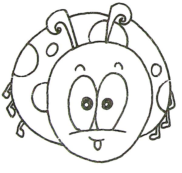 七星瓢虫简笔画,瓢虫简笔画大全,教宝宝学会观察生活小昆虫!