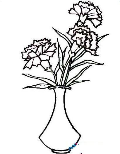 康乃馨简笔画,高清康乃馨简笔画大全,教宝宝学会花朵的绘画